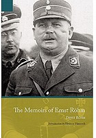 The memoirs of Ernst Röhm