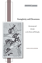 Exemplarity and chosenness : Rosenzweig and Derrida on the nation of philosophy