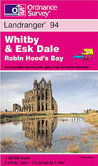 Whitby & Esk Dale, Robin Hood's Bay. Map.