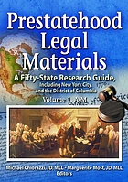 Prestatehood legal materials : a fifty-state research guide, including New York City and the District of Columbia