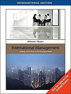 International management : strategy and culture in the emerging world