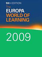 The Europa world of learning 2009.