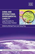 China and international environmental liability : legal remedies for transboundary pollution