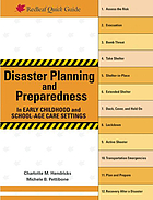 Disaster Planning and Preparedness in Early Childhood and School-Age Care Settings.