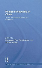Regional inequality in China : trends, explanations and policy responses