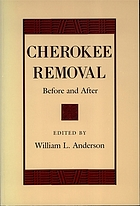 Cherokee removal : before and after