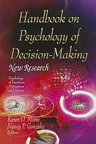 Handbook on psychology of decision-making : new research