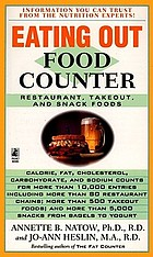 Eating out food counter : restaurant, takeout, and snack foods