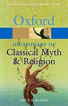 The Oxford Dictionary of Classical Myth and Religion cover image