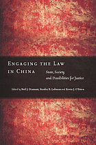 Engaging the law in China : state, society, and possibilities for justice