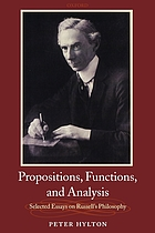 Propositions, functions, and analysis : selected essays on Russell's philosophy