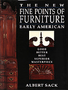 The new fine points of furniture : Early American, good, better, best, superior, masterpiece