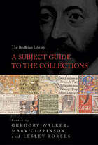 The Bodleian Library : a subject guide to the collections