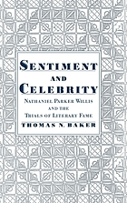 Sentiment & celebrity : Nathaniel Parker Willis and the trials of literary fame