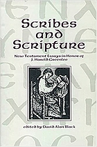 Scribes and scripture : New Testament essays in honor of J. Harold Greenlee