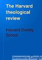 The Harvard theological review.