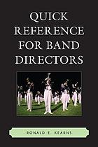 Quick reference for band directors