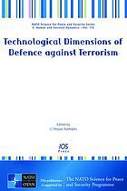 Technological dimensions of defence against terrorism