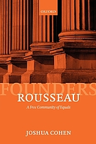 Rousseau : a free community of equals