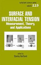 Surface and interfacial tension : measurement, theory, and applications
