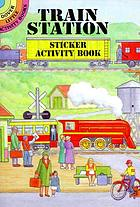 Train station sticker activity book.