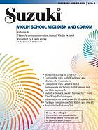 Suzuki violin school accompaniment : MIDI disk/CD-ROM  (Musical CD