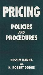 Pricing : policies and procedures.