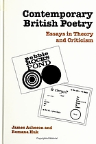 Contemporary British poetry : essays in theory and criticism