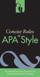 Concise rules of APA style.