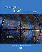 Objects first with Java : a practical introduction using BlueJ.