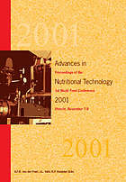 Advances in nutritional technology 2001 : proceedings of the 1st World Feed Conference, Utrecht, November 7-8