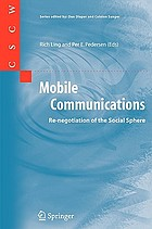 Mobile communications : re-negotiation of the social sphere