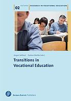 Transitions in vocational education. Volume 2