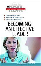 Becoming an effective leader.