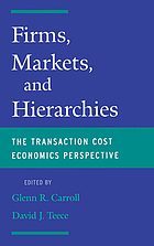 Firms, markets, and hierarchies : the transaction cost economics perspective