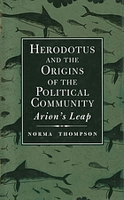Herodotus and the origins of the political community : Arion's leap