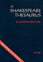 A Shakespeare thesaurus