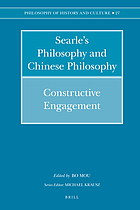 Searle's philosophy and Chinese philosophy : constructive engagement