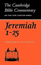 The book of the Prophet Jeremiah, chapters 1-25.