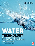 Water technology : an introduction for environmental scientists and engineers