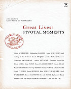 Great lives : pivotal moments