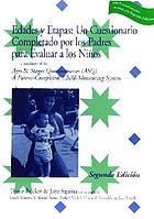 Ages & stages questionnaires : a parent-completed, child-monitoring system