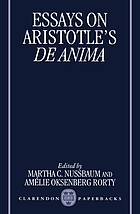 Essays on Aristotle's De anima.