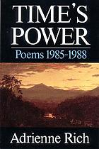 Time's power : poems 1985-1988