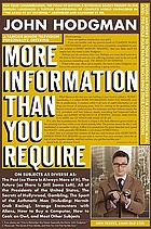 More information than you require