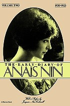 The early diary of Anais Nin : 1920-23.