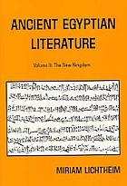 Ancient Egyptian Literature: A Book of Readings cover image