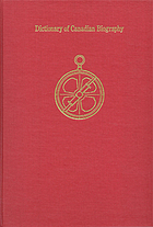 Dictionary of Canadian biography : index.