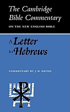 A letter to Hebrews;