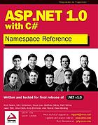 ASP. NET 1.0 namespace reference with C♯